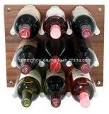 Muur Opgezet Rek 9 van de Wijn het Opschorten van de Wijn van de Fles met de Staaf van het Aluminium