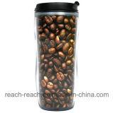 OEM 450ml annonçant la tasse de café en plastique (R-2099)
