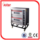 De commerciële Oven India, 3 Dek 6 van het Dek de elektrische Oven van het Dienblad