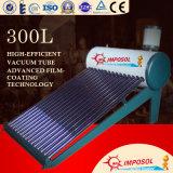 300L Non-Pressurized вакуумная трубка нагревателя горячей воды по солнечной энергии
