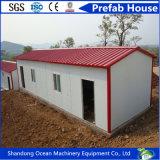 사무실로 광산 위치를 위한 열에 의하여 격리되는 색깔 강철 샌드위치 위원회를 가진 두 배 피치 지붕 강철 조립식 집 또는 Domitory 또는 창고