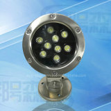 LED Light IP68 Piscina de luz subaquática de alta qualidade ao ar livre impermeável 9W 12W LED luz subaquática