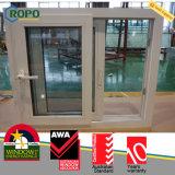 Vetro laminato resistente agli urti Windows scorrevole del PVC con la rete di zanzara