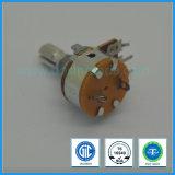 potenziometro rotativo di 16mm con il potenziometro B10k B100k del carbonio dell'interruttore