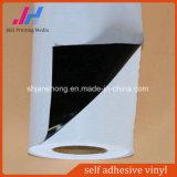Auto adhesivo de vinilo, vinilo Autoadhesivas Vinilo imprimible (desmontable negro pegamento)