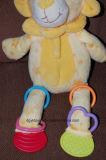 Brinquedo de leão de felpa educacional para bebês