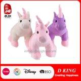 3개의 색깔 귀여운 견면 벨벳 Unicorn 장난감