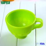 아기 무능 사람들을%s 손잡이를 가진 미끄럼 방지 가득 차있는 음식 급료 실리콘 컵 서빙 사발