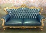 Sofà del cuoio della mobilia del salone con gli insiemi italiani del sofà di disegno