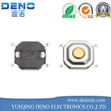 Interruttore illuminato di tatto di 6*6 millimetro con la protezione rotonda gialla del LED