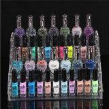 En annonçant le présentoir acrylique de vernis à ongles, sauter la crémaillère d'étalage acrylique