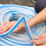 Manguito reforzado tejido PVC Ks-12158ssg del agua del manguito de la fibra