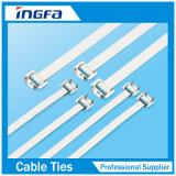 Ataduras de cables descubiertas liberables del acero inoxidable Ss316 para la electricidad
