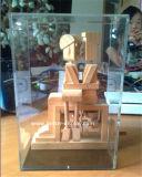 Изготовленный на заказ ясная коробка салфетки Acryic с логосом (BTR-P2001)