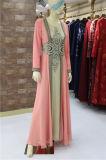 Partie robe de soirée pour les musulmans à manchon long robe en mousseline