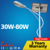 Super Bright Factory Venta al por mayor 30W 50W 80W luz de calle solar LED
