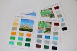 Карточка цвета для покрытия украшения