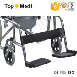 Hot Sale Econômico Chromed Steel Frame U Shape Seat Commode Wheelchair Tcm609u