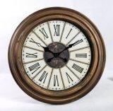 Anatique decora il grande orologio di parete rotondo del metallo di numero romano