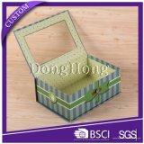 El rectángulo de regalo plegable plano más nuevo del papel especial del diseño de la fábrica
