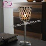 ホーム装飾表のセンターピースのためのヨーロッパ式のゴブレットのモザイク・ガラスの蝋燭ホールダーの蝋燭のコップ