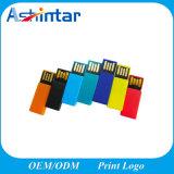 Mecanismo impulsor impermeable plástico del flash del USB del clip del disco de destello del USB mini