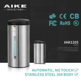 AK1205 Toilet Accessory Commercial Stainless Steel Sensor Distribuidor de sabão manual manual de parede montado na parede