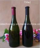 750 ml de champanhe garrafa de vidro castanho escuro com a cortiça
