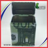 Couvercle de la cigarette de cas de cigares de métal paquet de cigarettes boîte