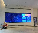 중국 매우 49 인치 판매에 전시 영상 벽을 광고하는 실내 벽 마운트 소폭 날의 사면 3.5mm LCD