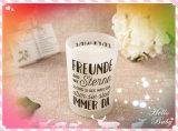Bougie de Noël de cire de soja haut de gamme dans un pot en verre avec boîte cadeau