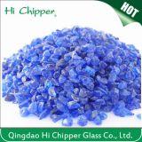 Il vetro blu schiacciato sabbia di vetro di Lanscaping Couble scheggia il vetro decorativo