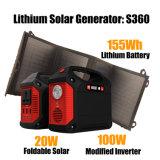 100W Gerador Solar Portátil com 20W Painel Solar Dobrável