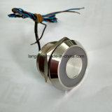 Piezo Schakelaar van 22mm met IP68 het Waterdichte Grote Tweekleurig Sluiten van de Verlichting van de Ring