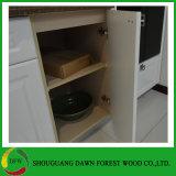 高い光沢のあるラッカー無地の食器棚のドアの食器棚