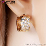 Nuovo Oro-Plated Charming Crystal Hoop Earring di Fashion 14k