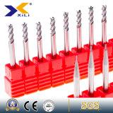 outils de fraisage combiné de carbure d'OEM de 45 ou 55 degrés pour l'aluminium