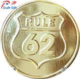 La ronda de oro de alta calidad personalizado prueba Coin