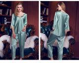 """Pijamas de seda Sy10306809 das mulheres """"sexy"""" do Nightwear da roupa de noite das senhoras da roupa interior"""