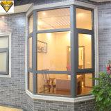 Doppia finestra di alluminio di vetro personalizzata della stoffa per tendine con la rete di zanzara