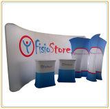 présentoir de drapeau de tissu de tension d'exposition de courbe de 10FT