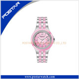 女性2016年のための新しいピンクカラー流行の腕時計