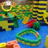 O campo de jogos certificado Ce da segurança brinca grandes blocos de apartamentos coloridos do PPE