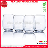 Form-neue flexible Stemless Plastikwein-Gläser
