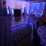 Звезда панелей диско украшения партии клуба венчания освещает вверх танцевальную площадку