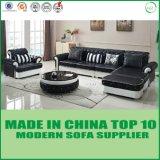 L jeu moderne de sofa de cuir de sofa de forme