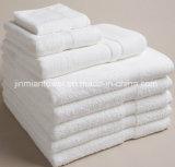 卸売70X140cm 32s/2白く明白なテリータオルの一定の高級ホテルの100%年の綿の浴室タオル
