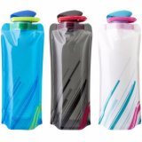 700ml BPA Free Outdoor Travel Portable Collapsible Folding Sport Water Bottle Bag