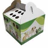 Papier Case transporteur Wit Hhandle pet