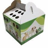 Sagacidade de papel Hhandle da caixa do portador do animal de estimação